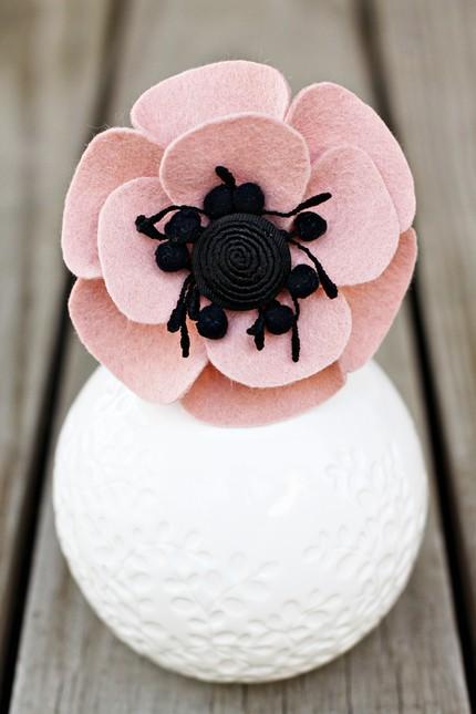 the sweet anemone fascinator tea rose pink