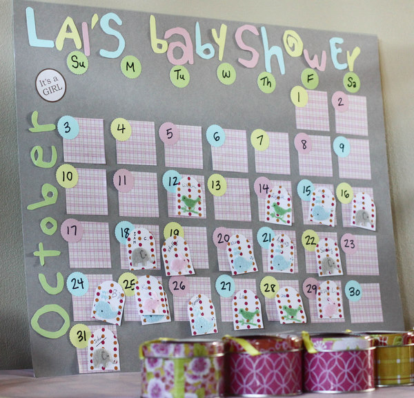 Guess The Birth Date Baby Shower Game: L+B's Pink And Yellow Baby Shower
