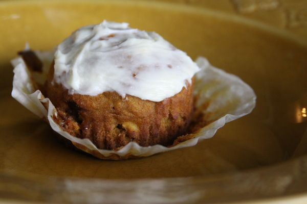 Muffins and Cream Cheese Frosting? Yes, Please!