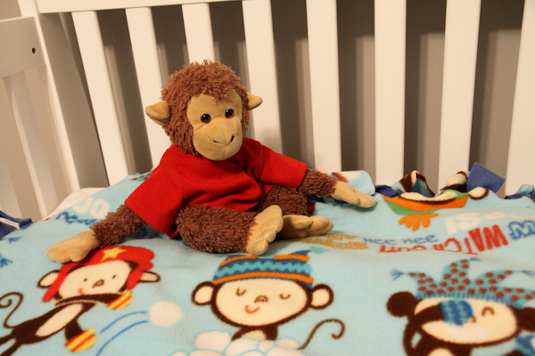 No Sew Fleece Blanket for Baby