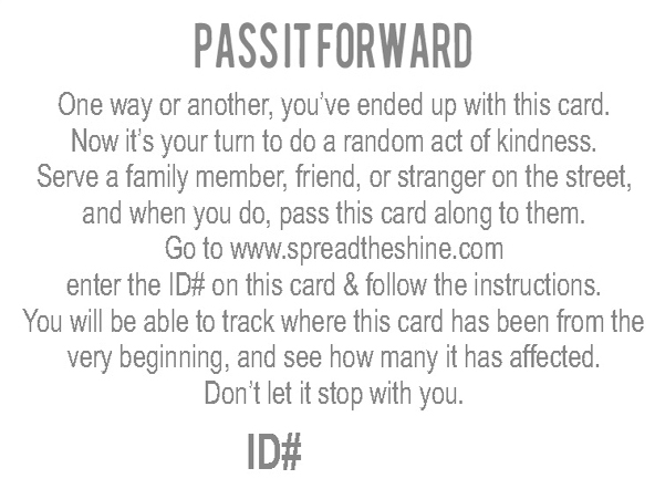 Pass It Forward