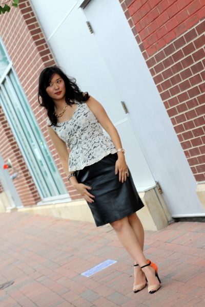 Peplum, Lace, and Leather