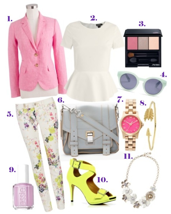 spring colors and florals 3-29