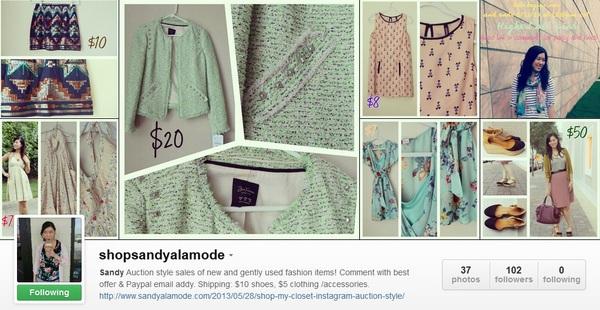 instagram shopmycloset
