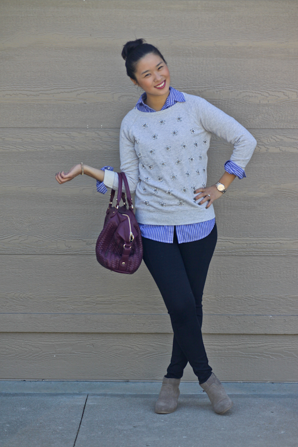 Easy Peasy Embellished Sweatshirt Style