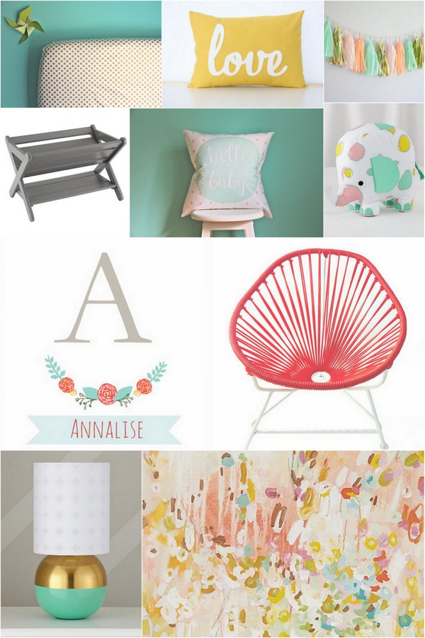 Baby Girl Nursery Inspiration
