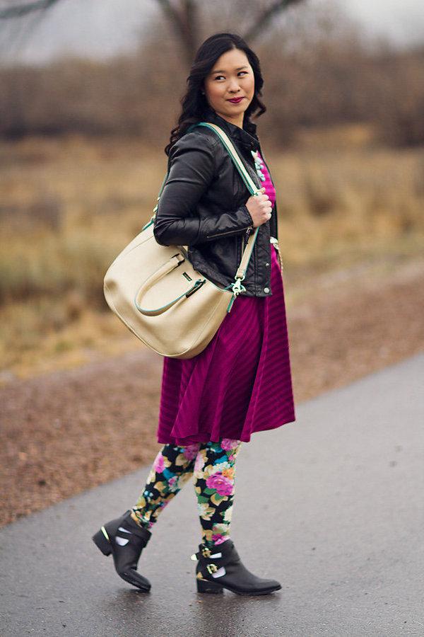 sandy a la mode floral leggings