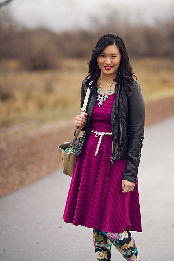 sandy a la mode purple dress