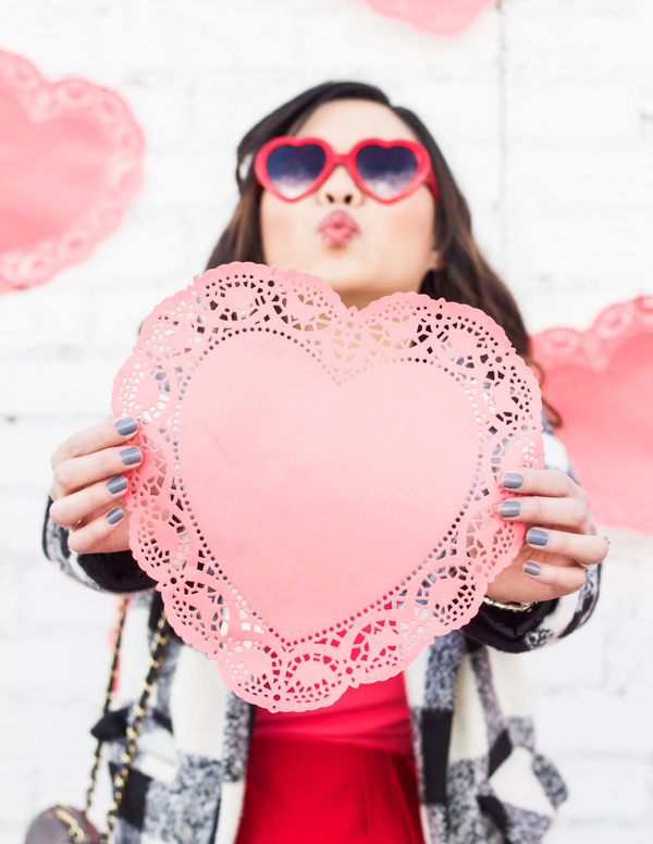Heart sunglasses for Valentine's Day
