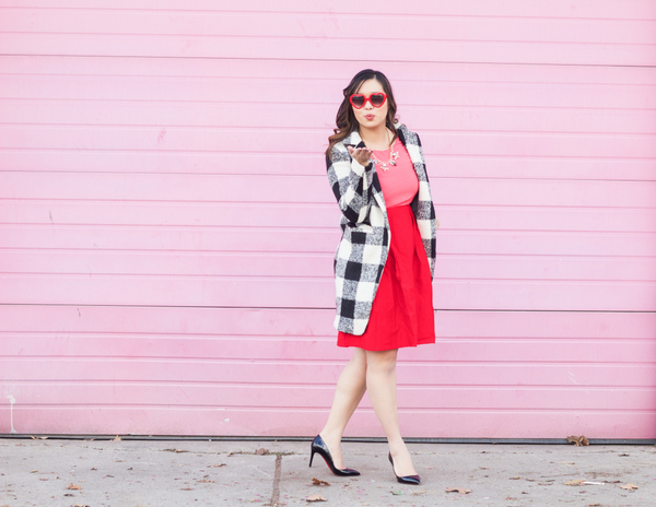 Valentine's day outfit: pinks and reds