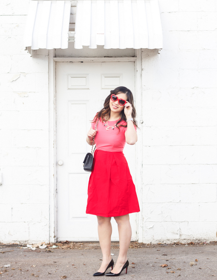 Kingdom and State Combination Dress: Valentine's day outfit