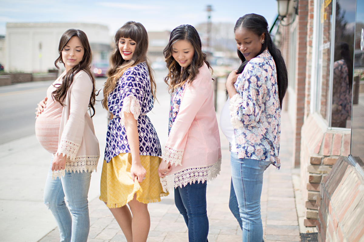 Fashion bloggers spring style with PinkBlush crochet cardigans