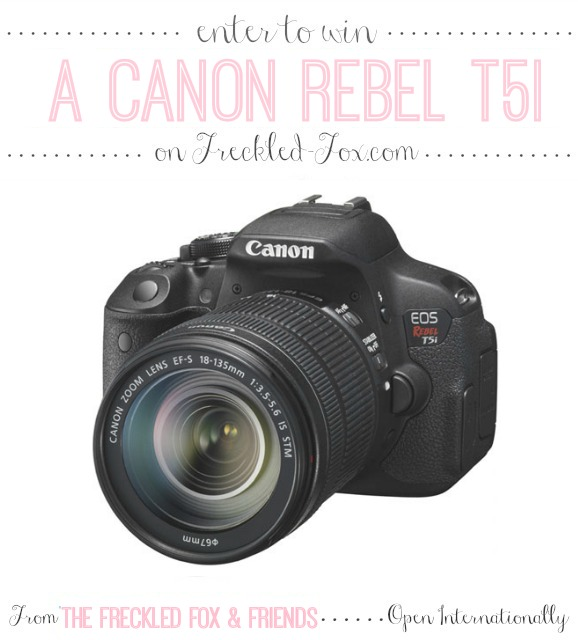 Let us make your day! | a Canon T5i Giveaway