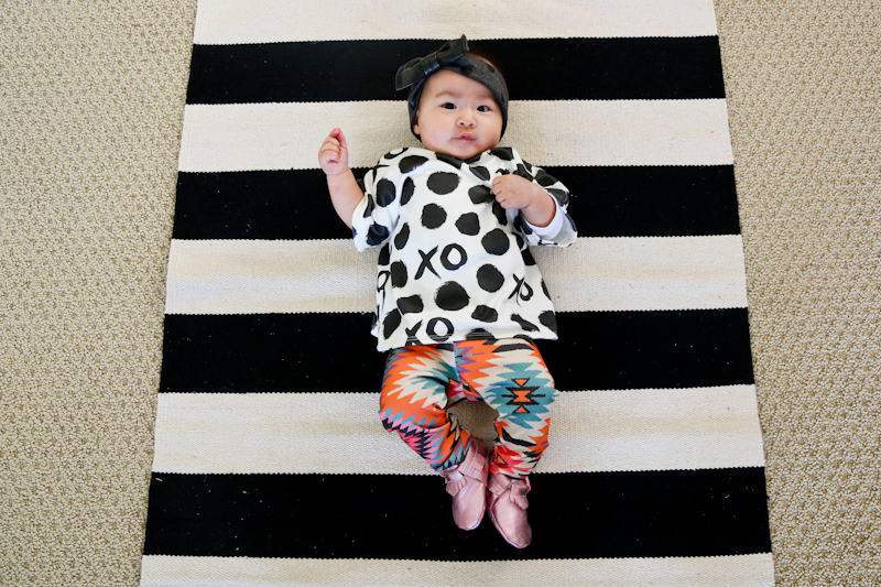 baby girl pattern mixing fashion