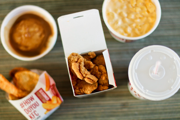 KFC Popcorn Nuggets and sides