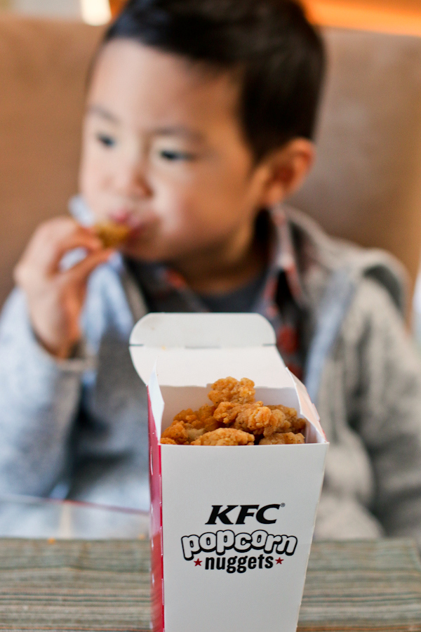 KFC Popcorn Nuggets kid approved