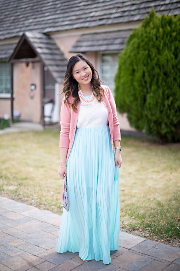 Sandy a la Mode / Fashion blogger Spring Easter maxi dress outfit