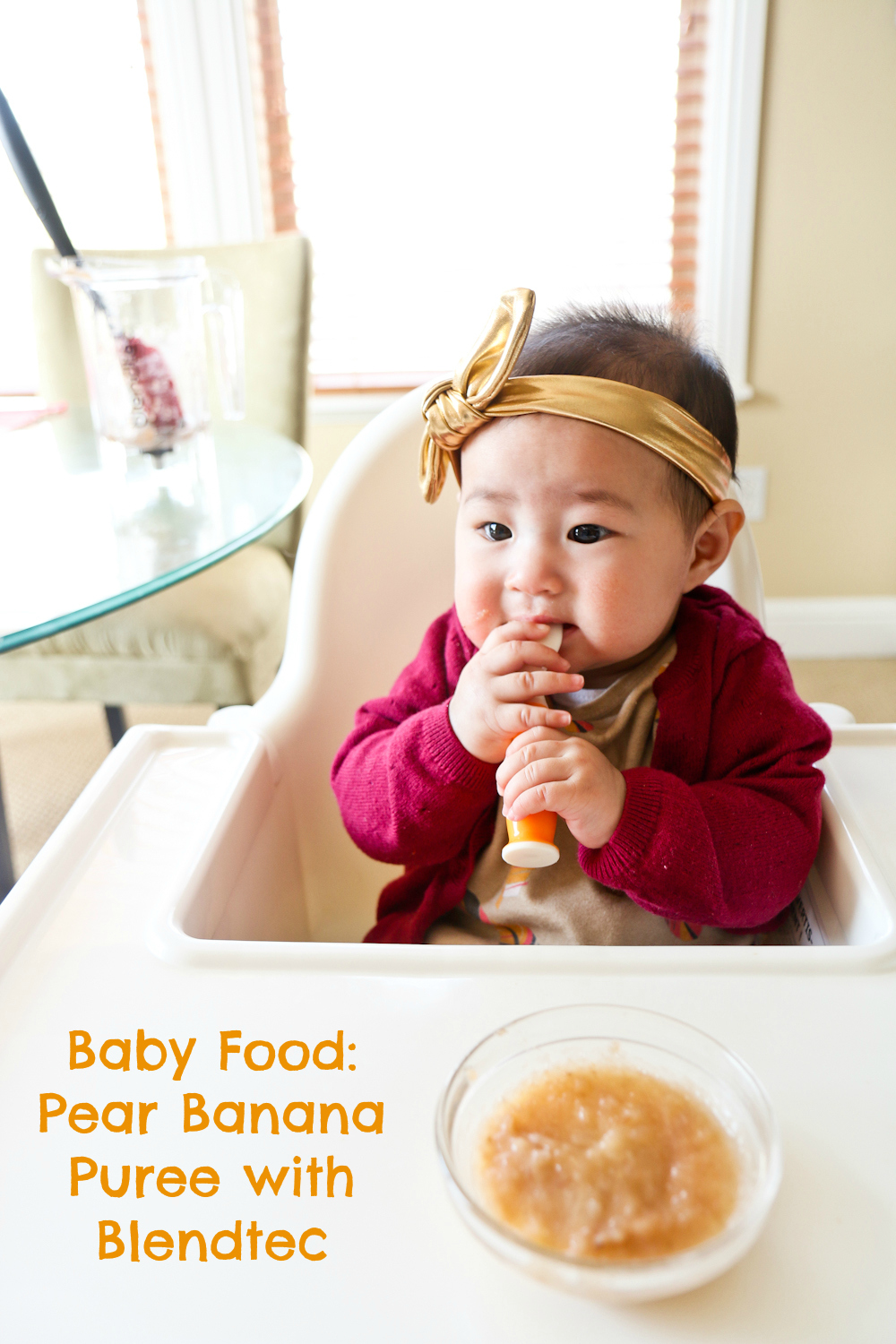 Baby Food: Pear Banana Puree with Blendtec