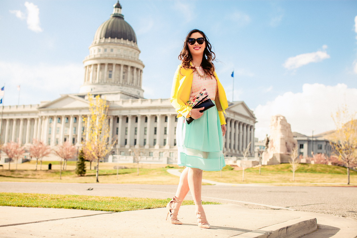 Sandy a la Mode | Colorful outfit with Madison & Sixth