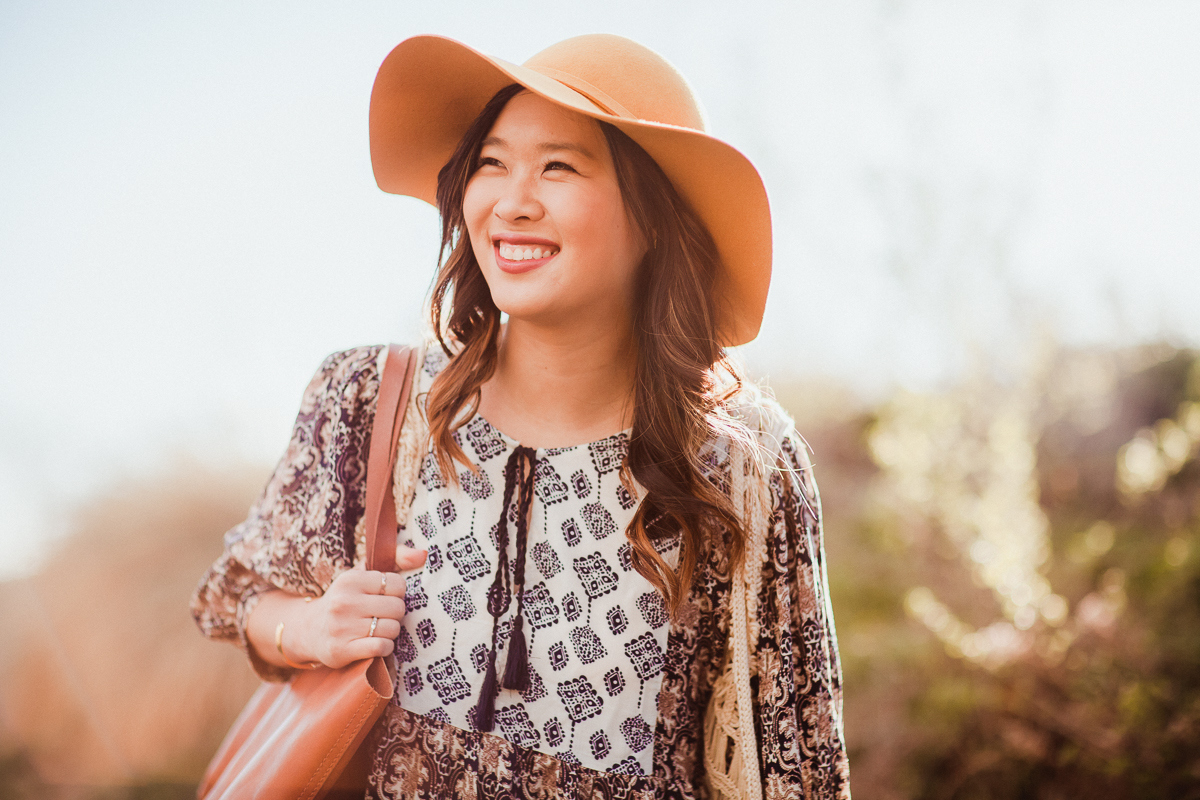 Sandy a la Mode | Fashion Blogger Floppy Hat Bohemian Style