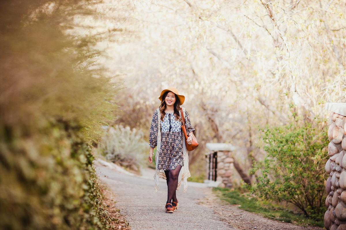 Sandy a la Mode | Fashion Blogger Floppy Hat Bohemian Style