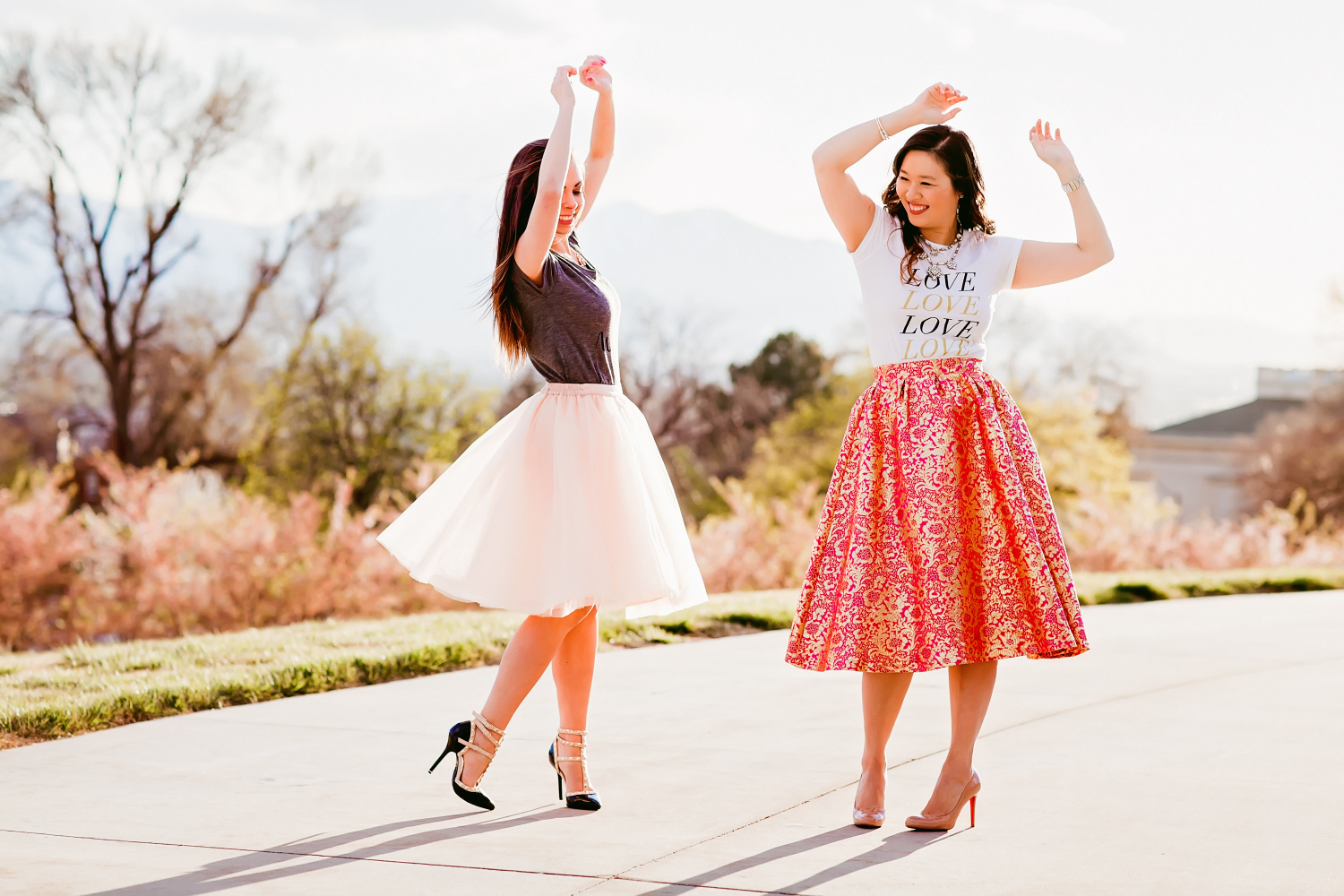 Sandy a la Mode | Fashion Blogger Graphic Tee and Pretty Skirt with Lovely Deseret