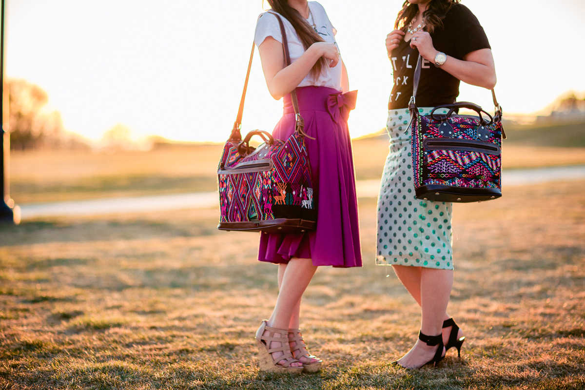 Sandy a la Mode | Fashion Blogger with Lovely Deseret wearing Mus Bags