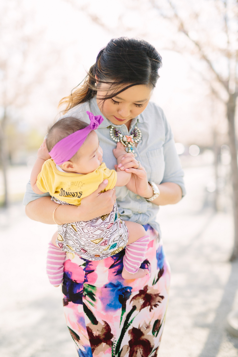 Sandy a la Mode | Mommy and Me Fashion Bright Spring Colors