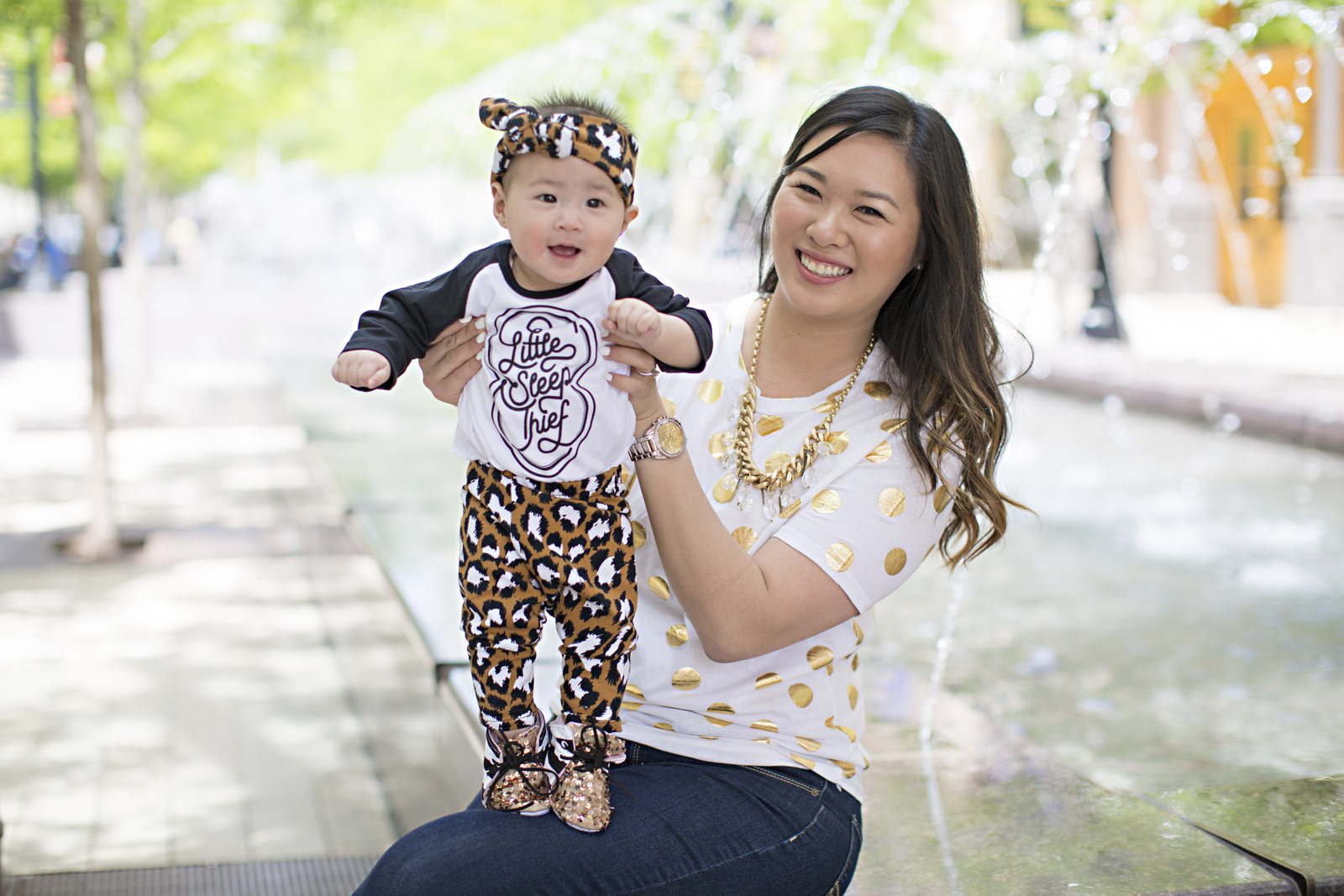 Mommy + Me Leopard and Gold