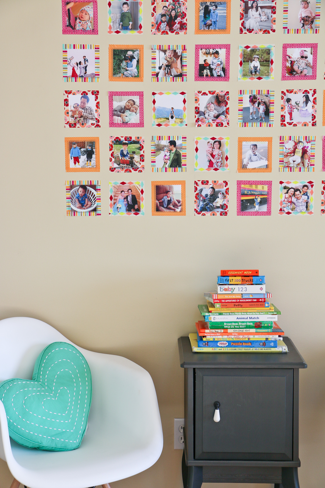 superb Instagram Wall Art Part - 14: DIY Instagram Wall Art with Washi Tape