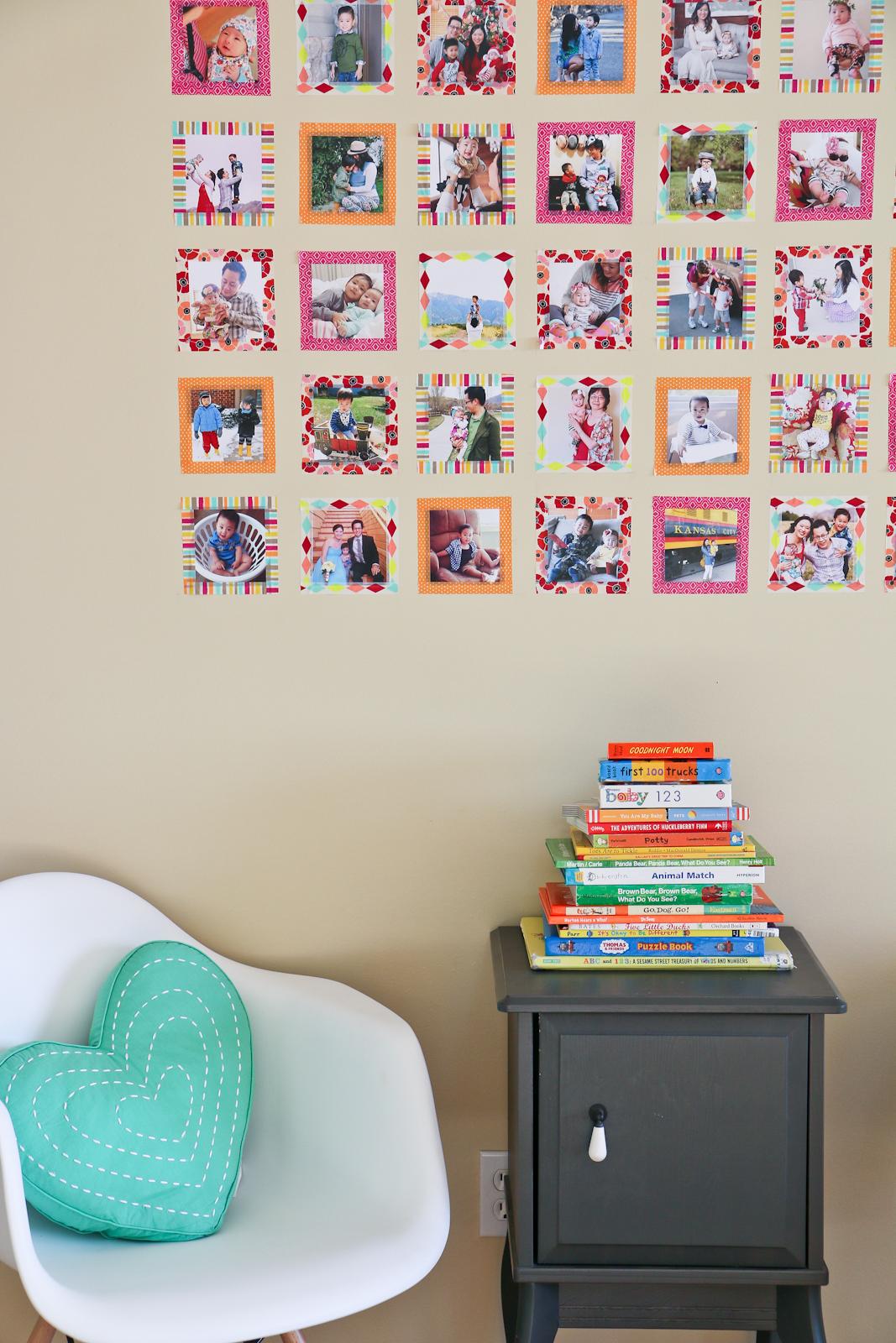 DIY Instagram Wall Art with Washi Tape
