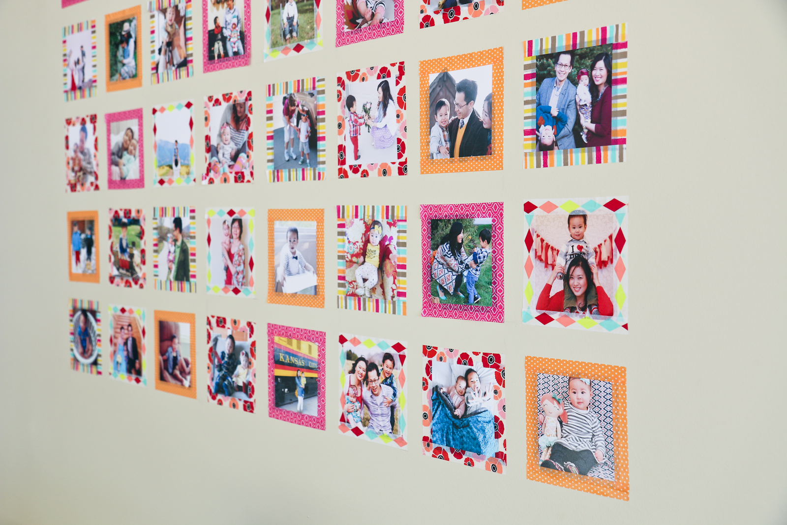 DIY Instagram Wall Art with Washi Tape