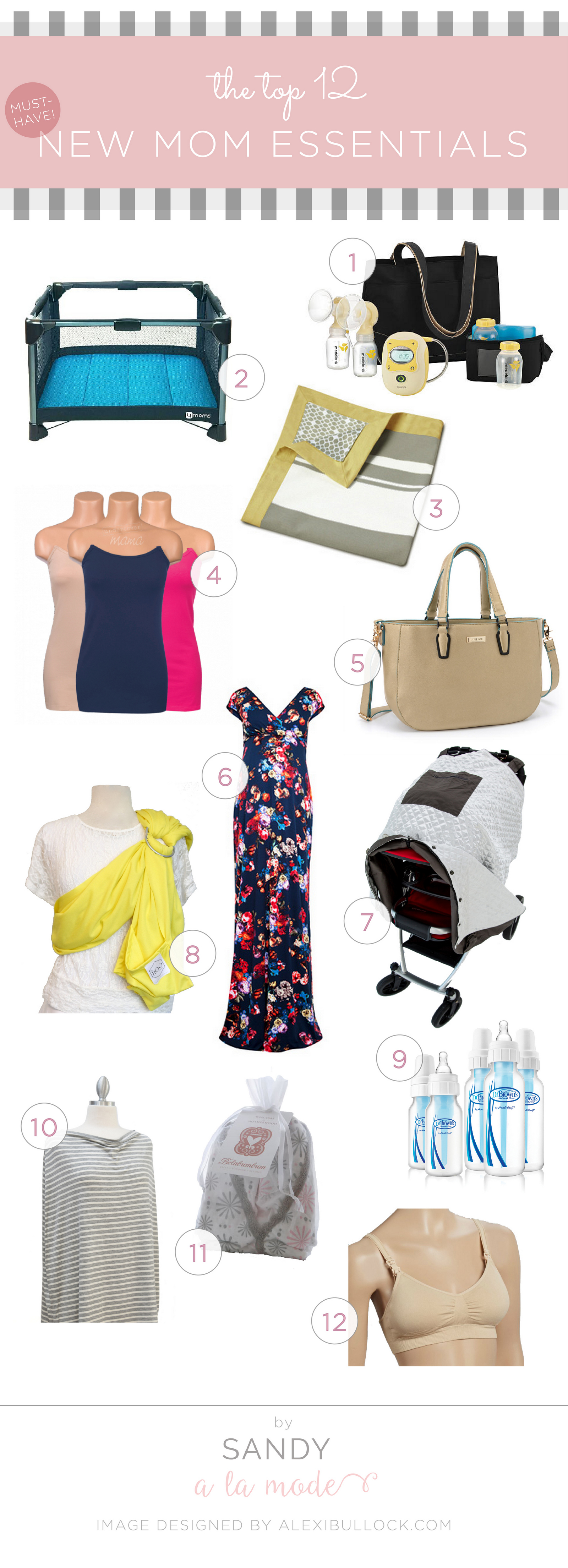 Sandy a la Mode - New Mom Essentials Must-Haves Guide