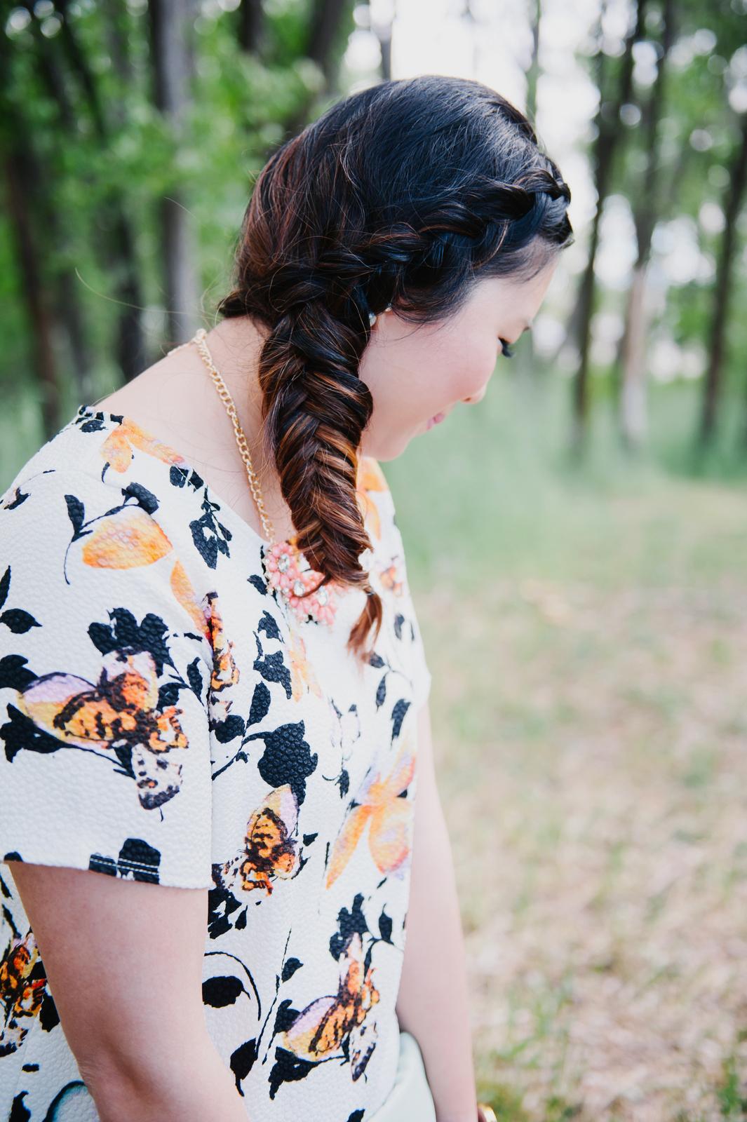 Sandy a la Mode | Fashion Blogger Braid Hairstyle Fishtail Braid