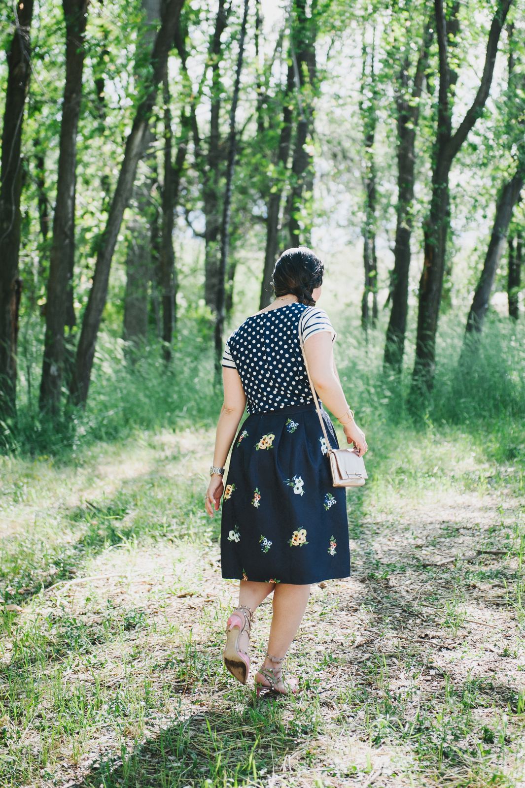 Sandy a la Mode | Fashion Blogger Pattern Mixing with Stripes Florals and Polka Dots