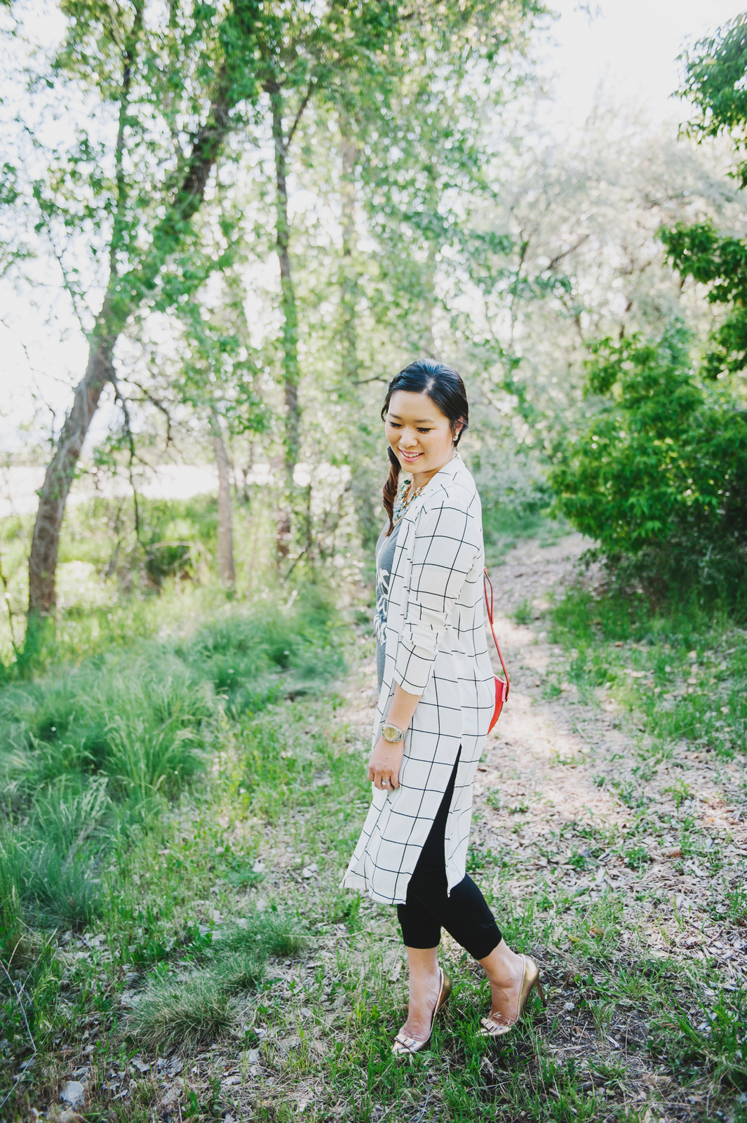 Sandy a la Mode | Fashion Blogger Today is a Miracle Tee and Windowpane Blazer