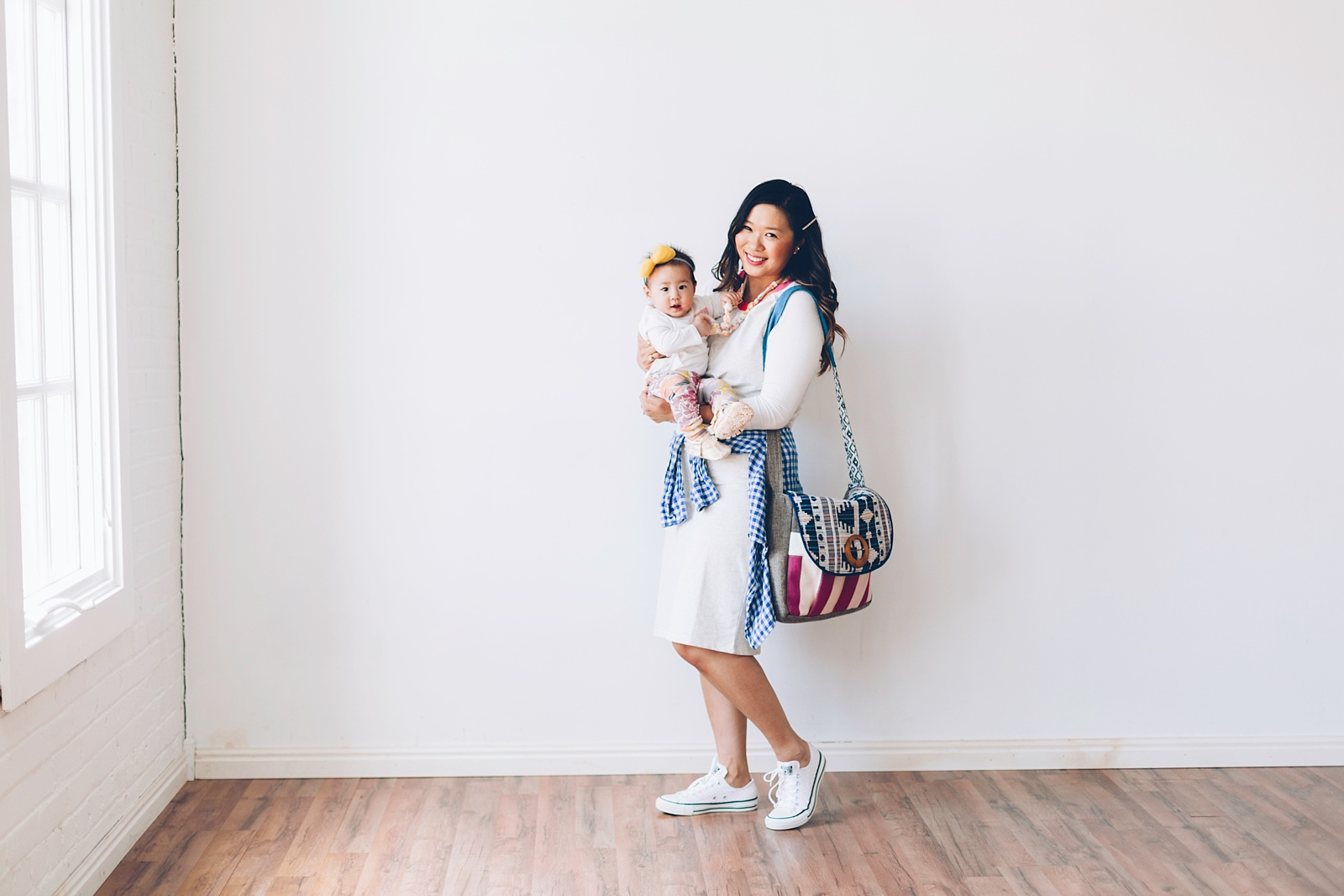 Sandy a la Mode | Mommy + Me fashion with The Vintage Honey Shop teething necklaces
