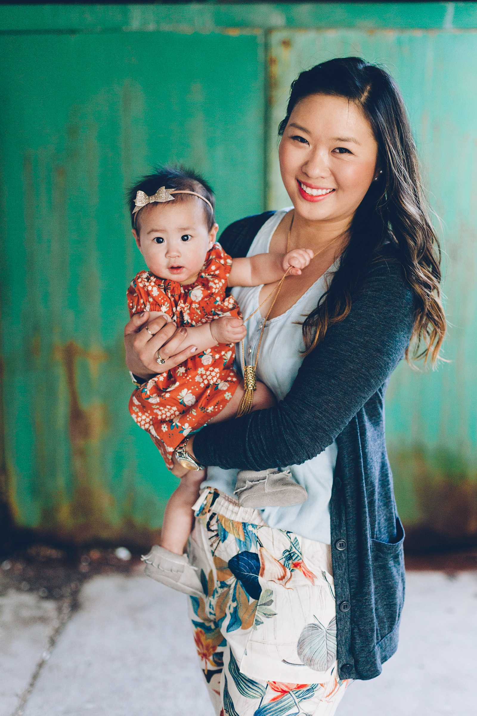Mommy + Me Orange and Blue Florals
