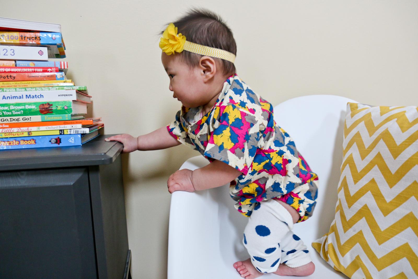 Sandy a la Mode | 8 Month Baby Girl Wearing Koolmono