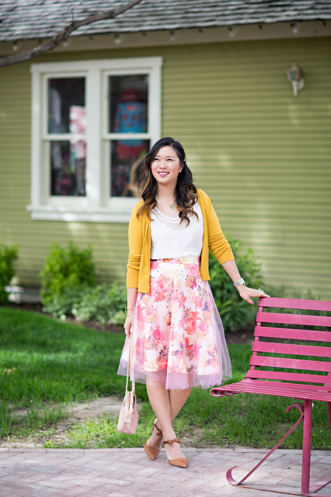 Sandy a la Mode | Fashion Blogger Wearing Shabby Apple Floral and Tulle Skirt