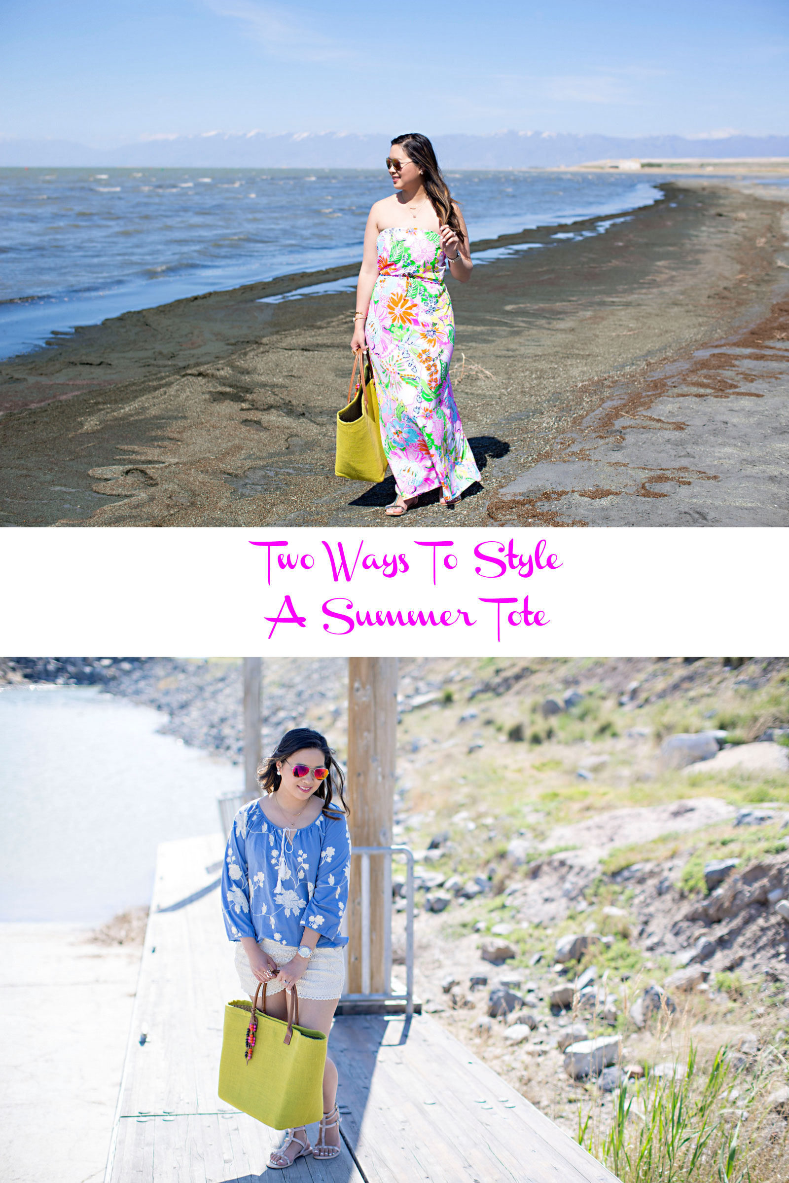 Sandy a la Mode | Fashion Blogger Two Ways To Style a Summer Tote