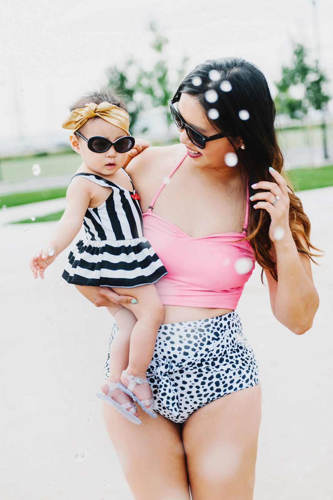 Sandy a la Mode | Mommy and Baby Girl Kortni Jeane Swimmers