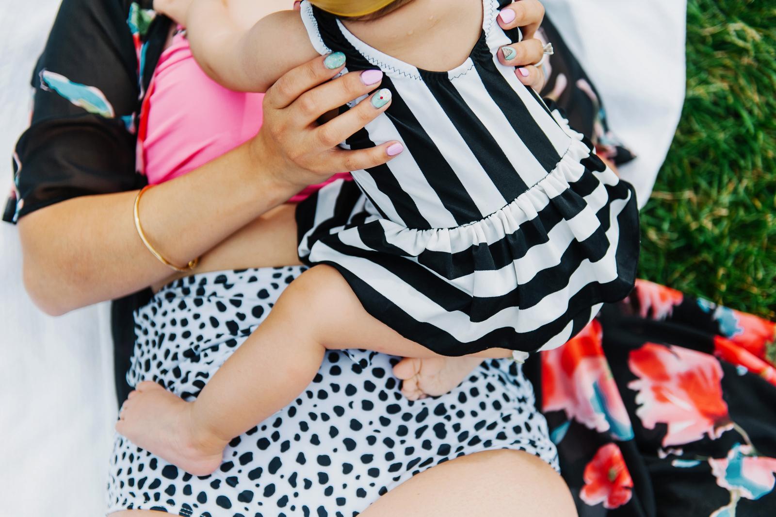 Sandy a la Mode   Mommy and Baby Girl Kortni Jeane Swimmers