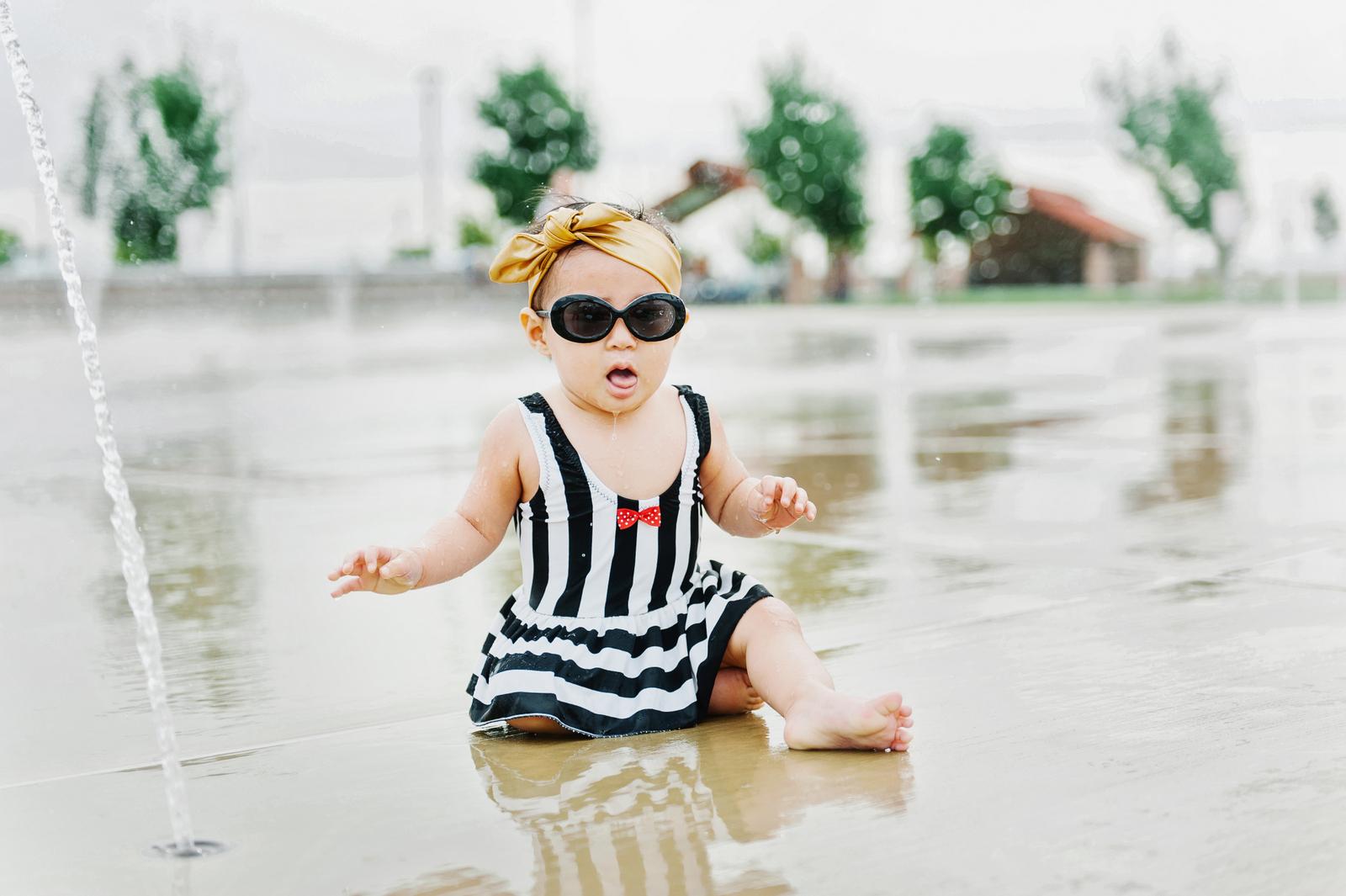 Sandy a la Mode | Mommy and Baby Girl Kortni Jeane Swimmers