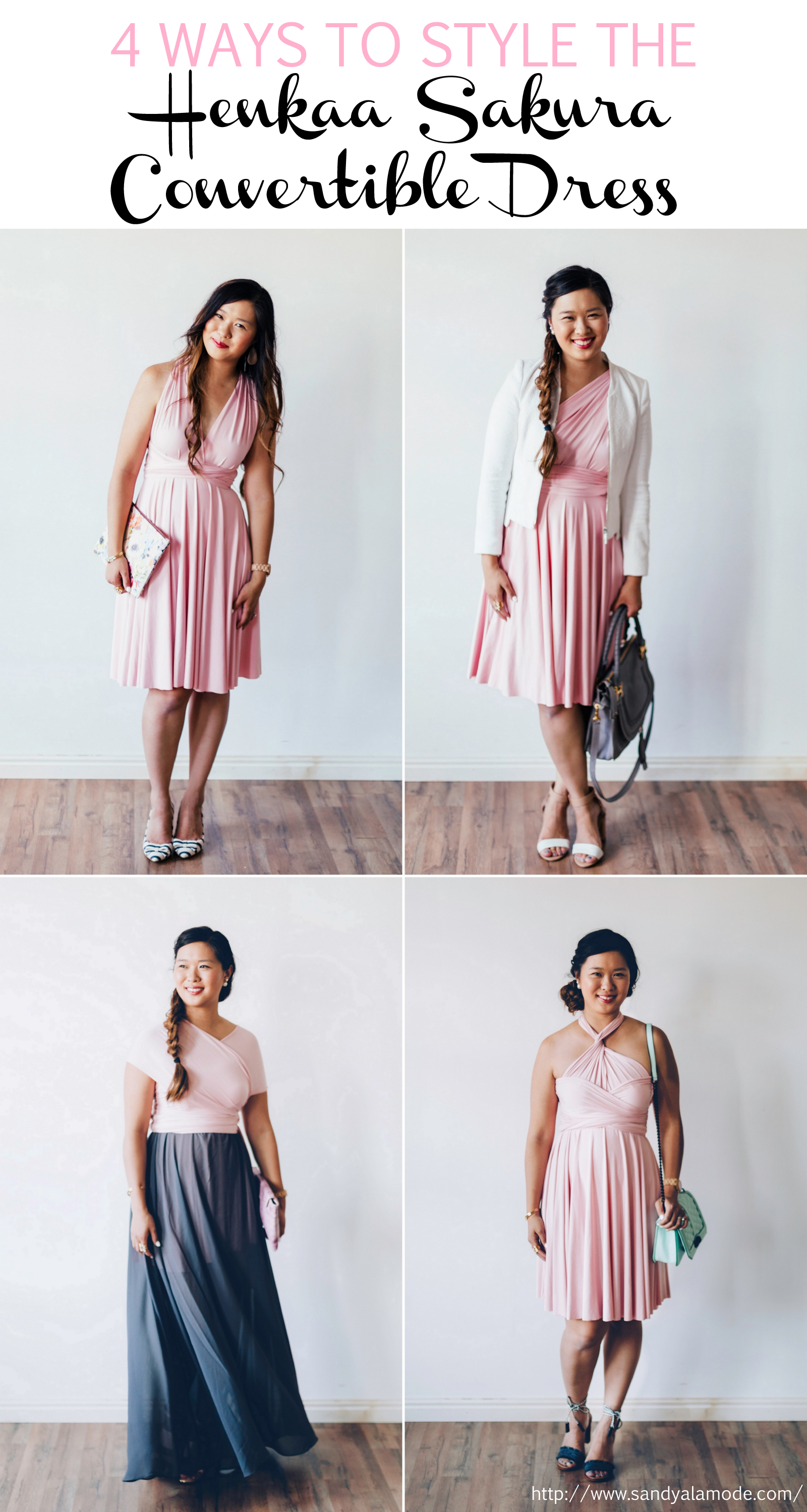 Sandy a la Mode | Fashion Blogger 4 Ways To Style The Henkaa Sakura Convertible Dress