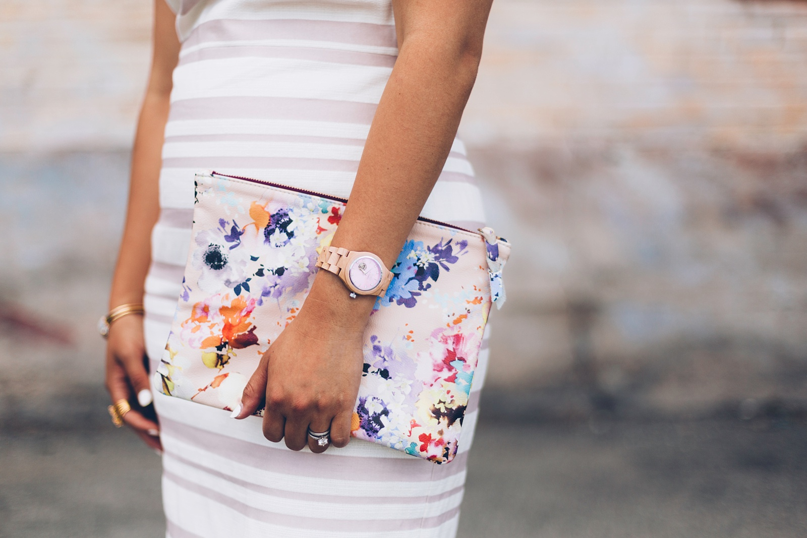 floral watercolor clutch from kslademade