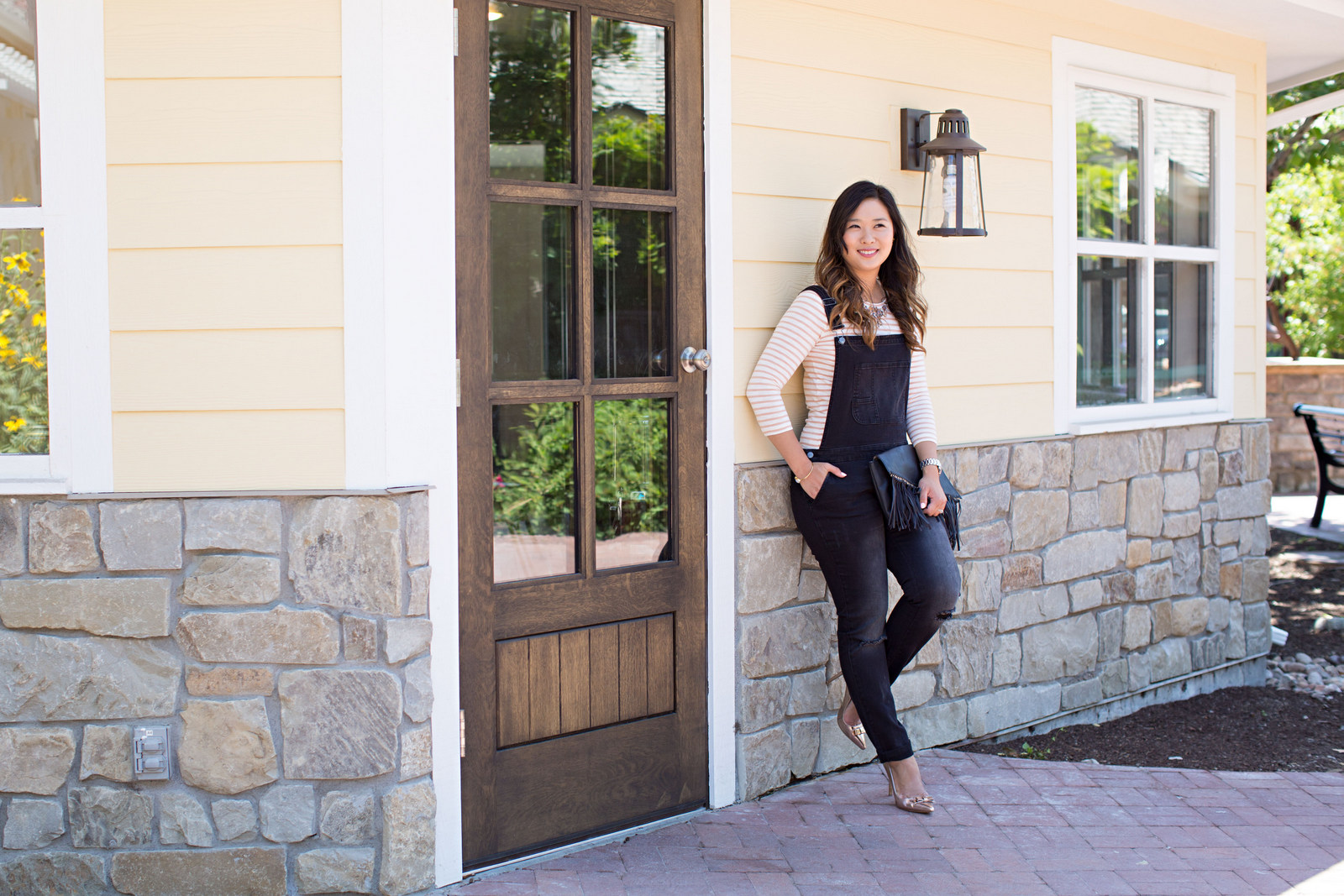 Sandy a la Mode | Fashion Blogger Wearing Target Black Denim Overalls