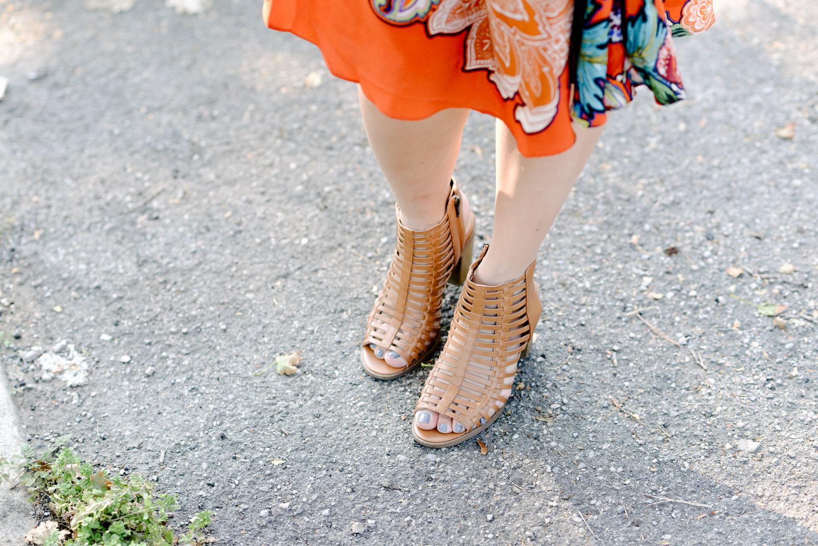 Target caged sandals
