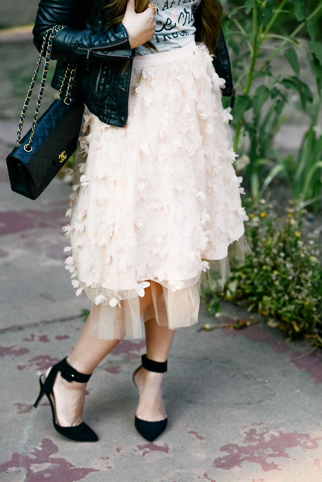 Pink Flutter and Tulle Skirt