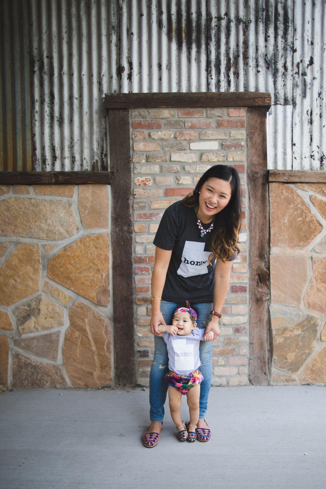 Mommy and me Utah home tees